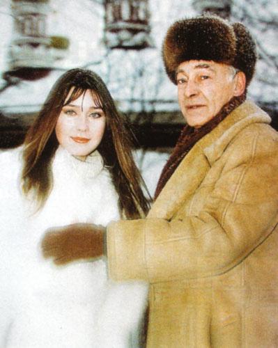Вячеслав Тихонов с дочерью Анной
