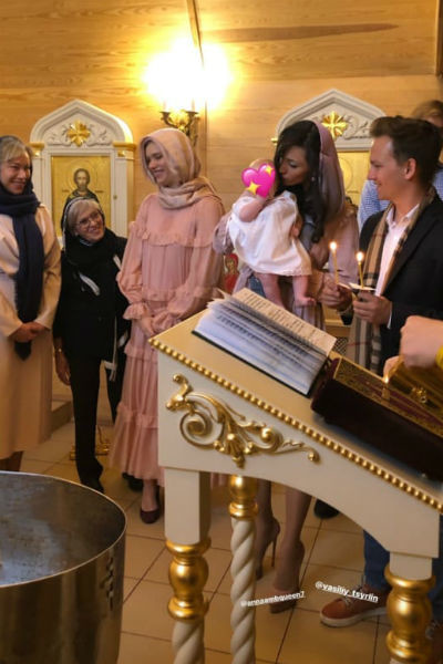 На крещении малышки Сони