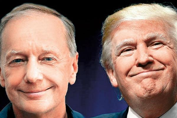 Юморист репетирует роль президента США в больнице