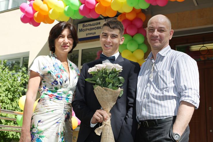 Супруги с сыном Тимуром