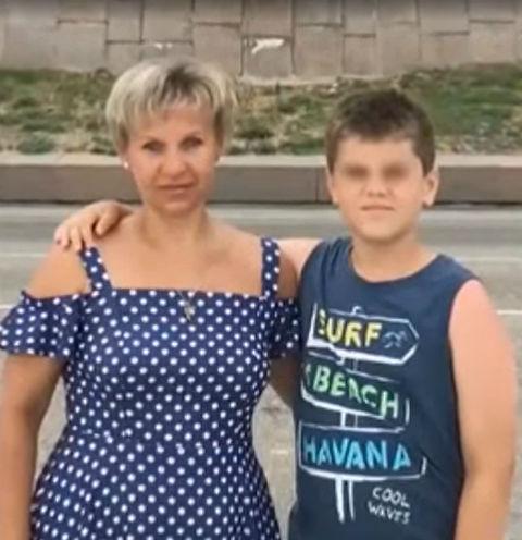 Ирина Воропаева с пасынком