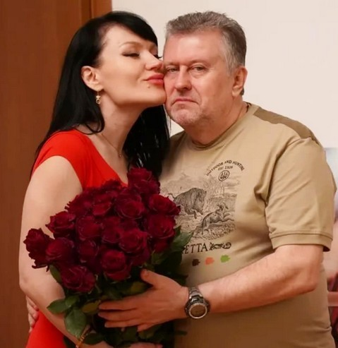 Милена Дайнега с мужем