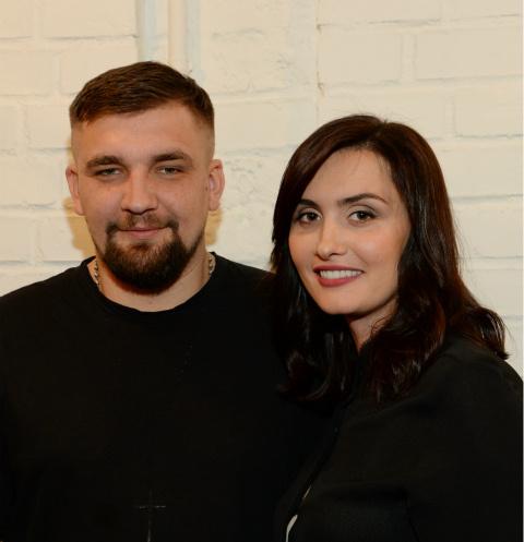 Рэпер Баста и Елена Пинская