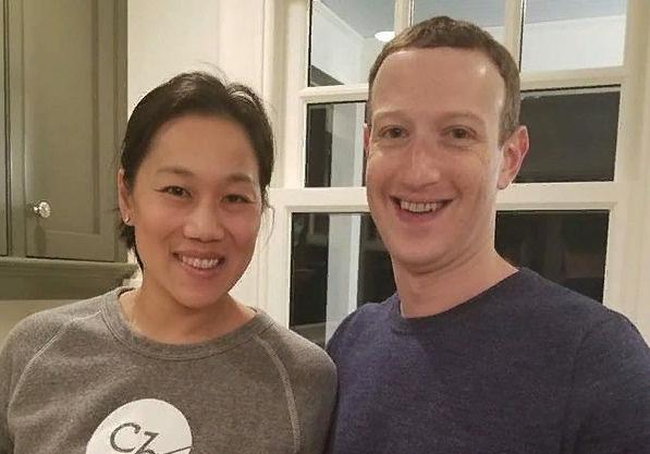 Марк Цукерберг с супругой Присциллой Чан