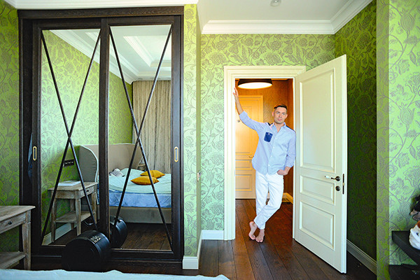 Любимое место в апартаментах — спальня