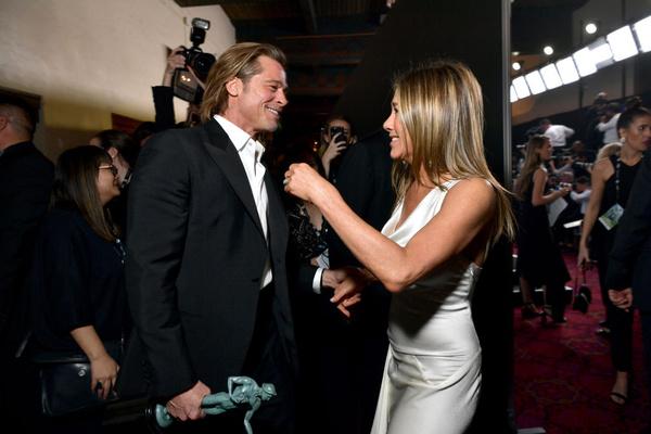 Питт и Энистон на церемониии вручения премии «Гильдии актеров»