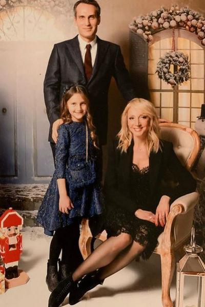Кристина Орбакайте с мужем и дочерью
