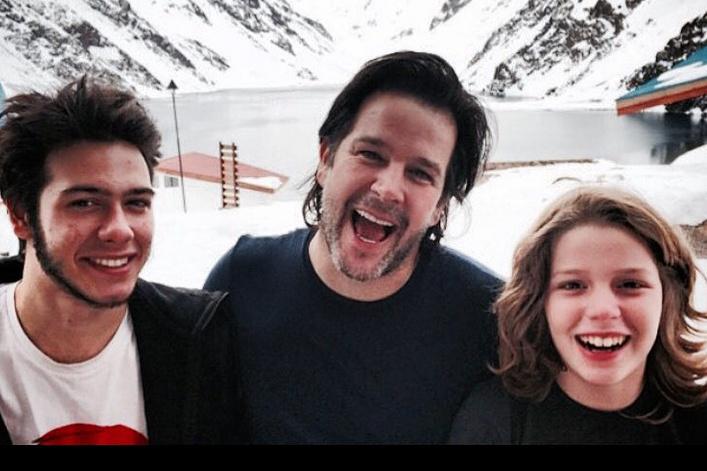 Актер с сыновьями