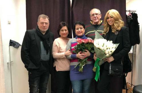 Эммануил Виторган с супругой и актерами киноспектакля