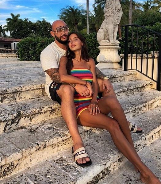 Оксана Самойлова с мужем