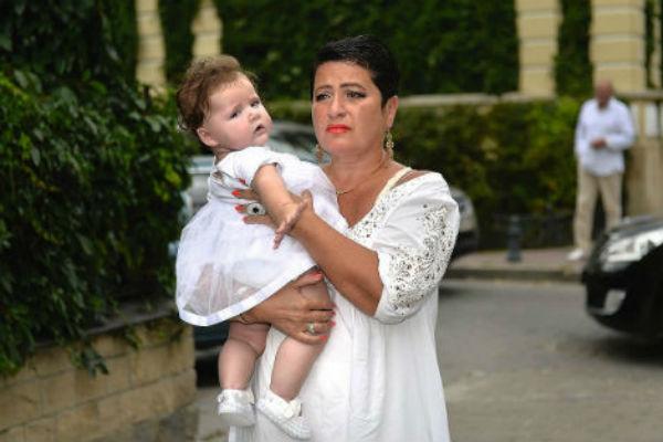 Ирина Млодик с дочкой на свадьбе Екатерины Архаровой