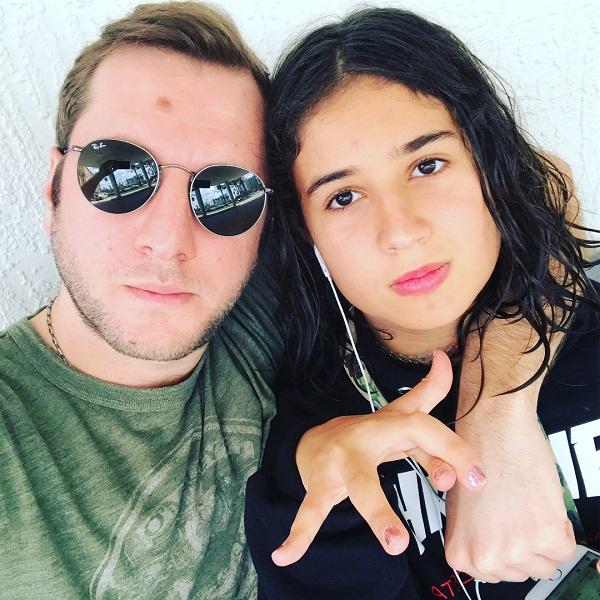 Резо с дочерью от первого брака Марусей