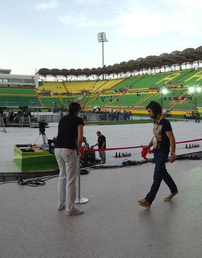 Подготовка к концерту