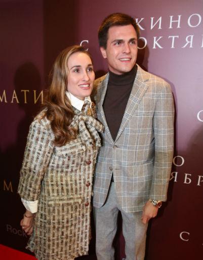 Анастасия Винокур с супругом