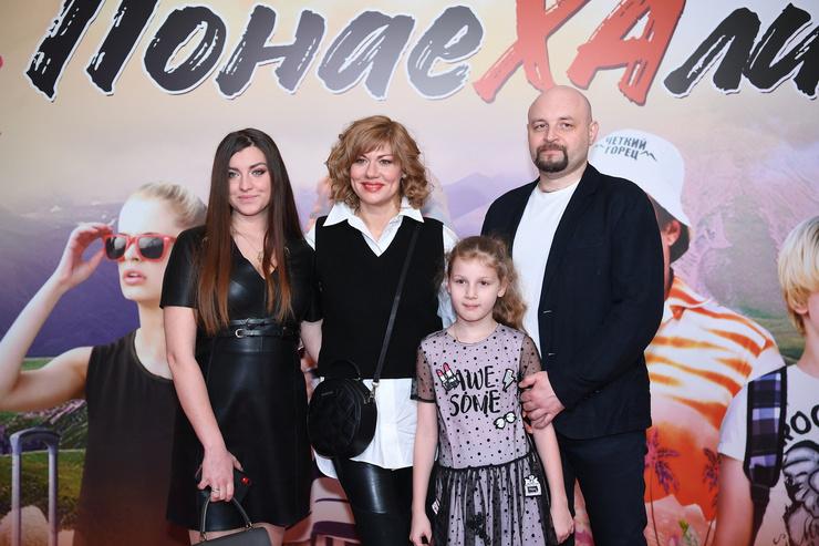 Елена Бирюкова с семьей