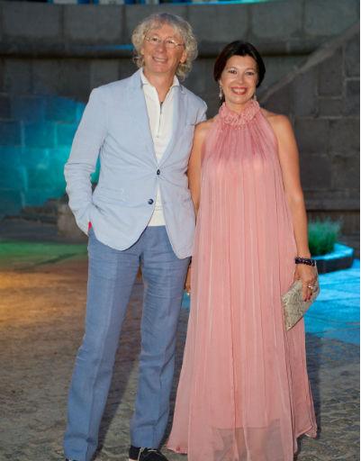 Аркадий Укупник с женой Натальей на банкете ММКФ