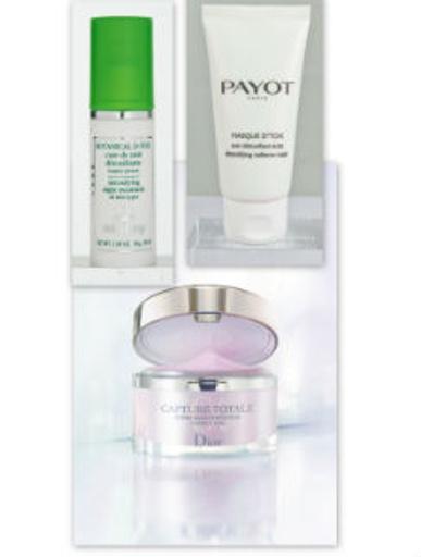 Sisley Ночное средство для вывода токсинов Botanical D-Tox, 8550 руб. Payot Очищающая маска-детокс, 1113 руб. Dior Крем для лица Capture Totale, 4800 руб.