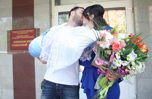 Александр и Алиана Гобозовы с сыном Робертом