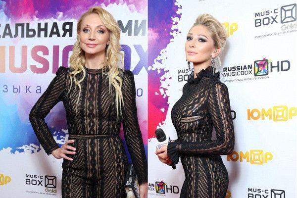 В прошлом году Кристина Орбакайте и Настя Ивлеева пришли на премию в одинаковых нарядах