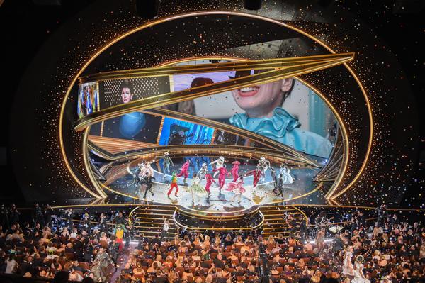 Церемония традиционно проходила в кинотеатре Dolby