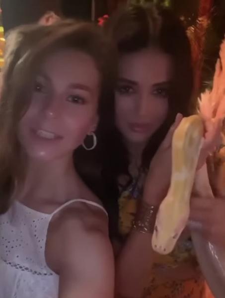 Танцы со змеями, трехъярусный торт и тамада Хрусталев: день рождения Софии Никитчук