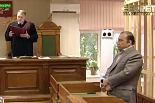 Виктор Батурин в момент оглашения приговора, 2012 год