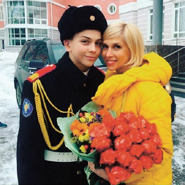 Сына Григория певица отдала в кадетский корпус, 2017 год
