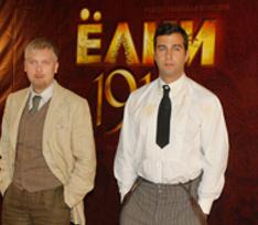 Иван Ургант и Сергей Светлаков на съемках фильма «Елки 1914»