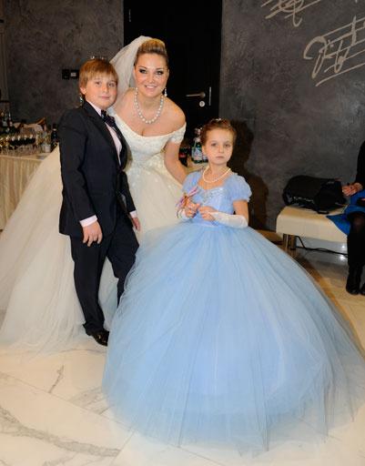 Мария с детьми от первого брака