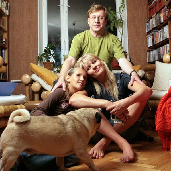 Александр Шаврин с семьей