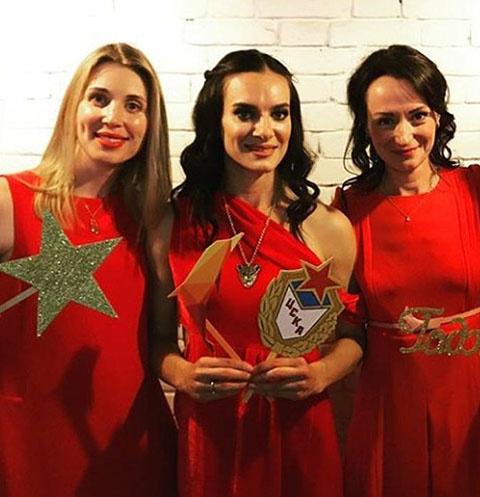 Елена Исинбаева и ее гостьи