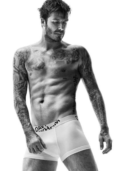 Дэвид Бекхэм в рекламной кампании нижнего белья от H&M в 2014 году