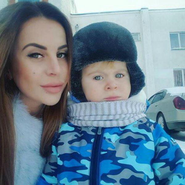 Ольга Ветер с сыном