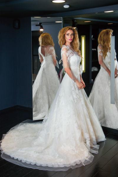 В таком же платье Vera Wang выходила замуж Иванка Трамп, модель назвали в ее честь