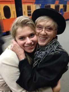 Алиса Фрейндлих с внучкой Анной Тарасовой