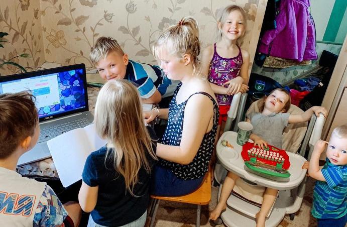Детям Оксаны учиться нескучно