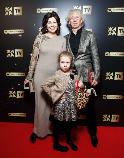 Аркадий Укупник с семьей