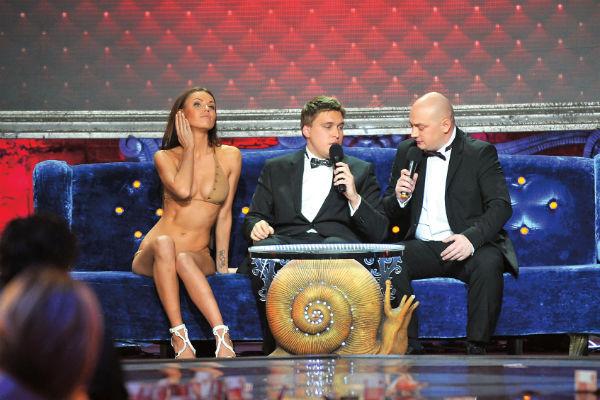 Александр с Романом Юсуповым на съемках новогоднего выпуска ComedyClub в 2011-м