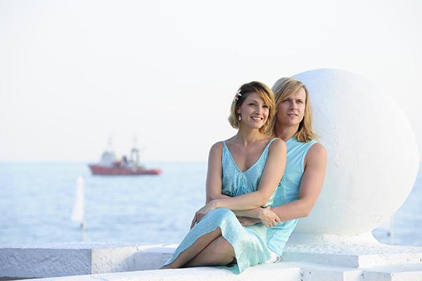 С женой Анастасией Макеевой на фестивале «Кинотавр»