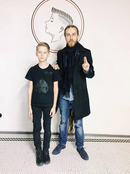 Кирилл Толмацкий с сыном