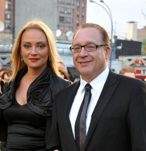 Максим Дунаевский с женой