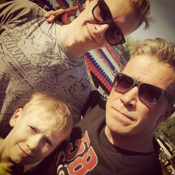 Актер с любимыми сыновьями