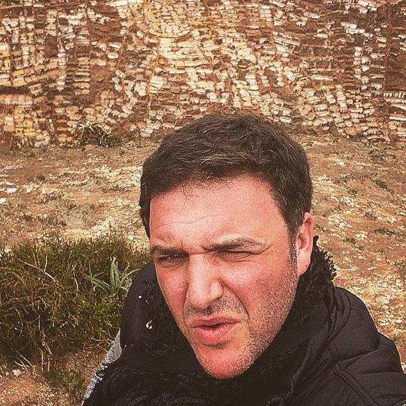 Это селфи Максим Виторган сделал на высокогорье