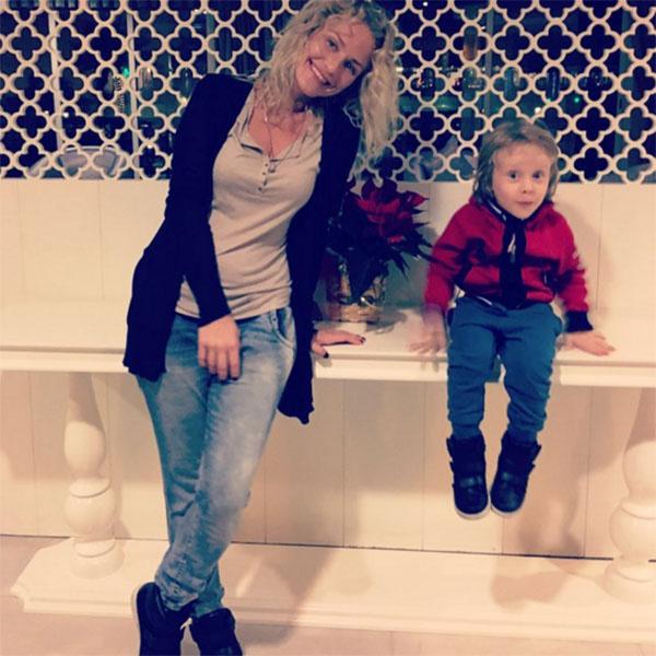 Катя Гордон с сыном Даниилом