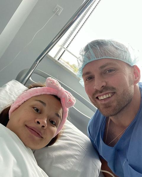 Сегодня утром Ксения родила дочь