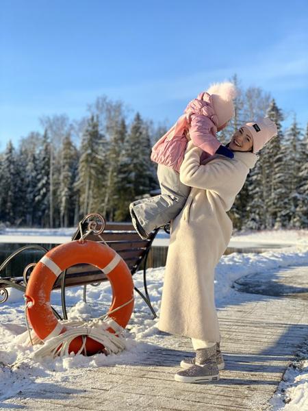 Анна Пескова с дочерью Анастасией
