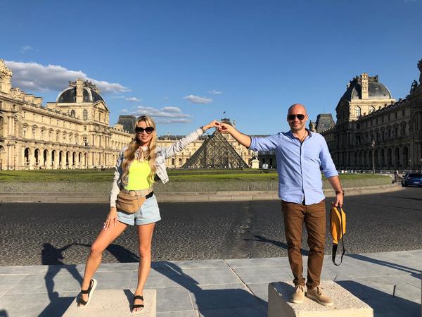 Кристина и Андрей сразу отправились осматривать главные достопримечательности Парижа
