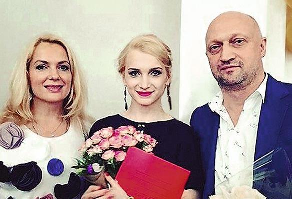 Мария Порошина, Гоша Куценко с дочерью Полиной