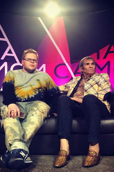 Бари Алибасов во время съемок ток-шоу