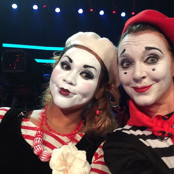Клоуны Корнелия Манго и Татьяна Лютаева